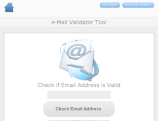 e-mailvalidator.com screenshot