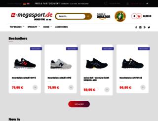 e-megasport.de screenshot
