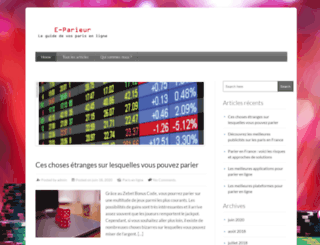 e-parieur.com screenshot