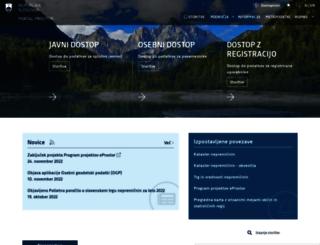 e-prostor.gov.si screenshot