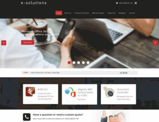e-solutionsltd.com screenshot