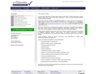 e-uctovnici.sk screenshot