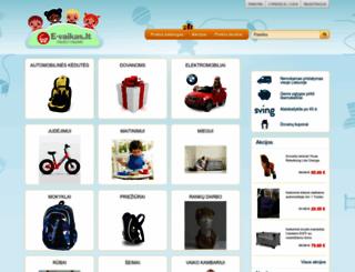 e-vaikas.lt screenshot