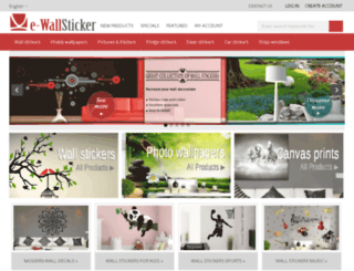 e-wallsticker.com screenshot