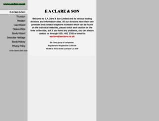 eaclare.co.uk screenshot