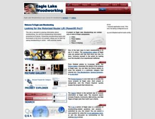 eaglelakewoodworking.com screenshot