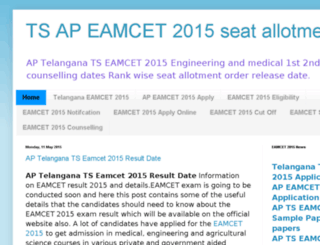 eamcet2015.in screenshot