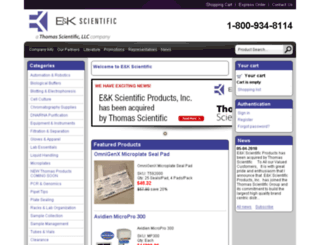 eandkscientific.com screenshot