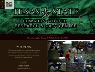 eardc.txstate.edu screenshot