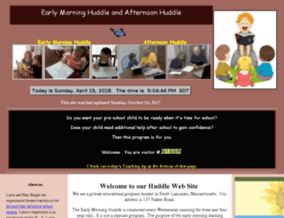 earlymorninghuddle.com screenshot