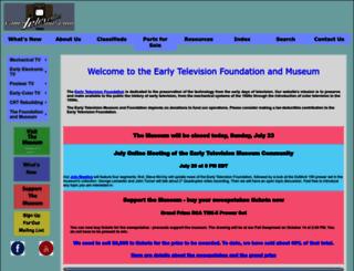earlytelevision.org screenshot