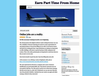 earnparttimehome.wordpress.com screenshot