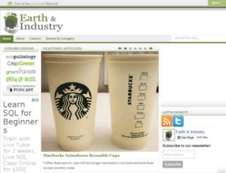 earthandindustry.com screenshot