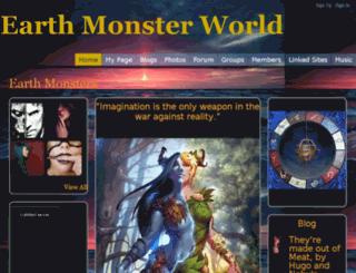 earthmonsterworld.ning.com screenshot