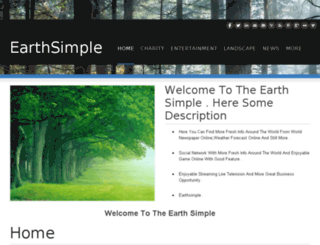 earthsimple.weebly.com screenshot