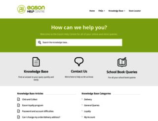 easonhelpcentre.com screenshot