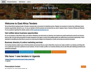 eastafricatenders.com screenshot