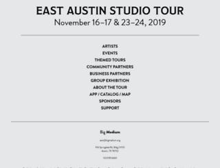eastaustinstudiotour.com screenshot