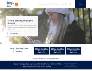 easternmichiganbank.com screenshot