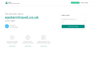 easterntravel.co.uk screenshot