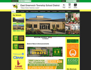 eastgreenwich.schoolwires.net screenshot