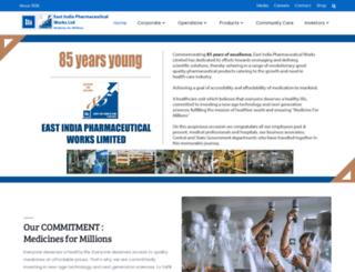 eastindiapharma.org screenshot