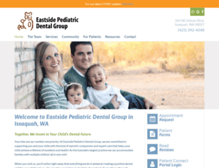 eastsidepediatricdentalgroup.com screenshot