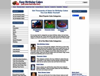 easy-birthday-cakes.com screenshot