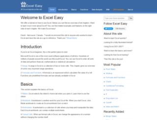 easyexceltutorial.com screenshot