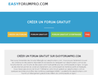 easyforum.fr screenshot