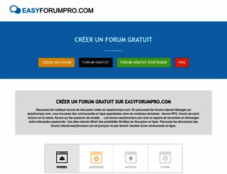 easyforumpro.com screenshot