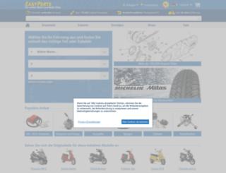 easyparts-rollerteile.de screenshot