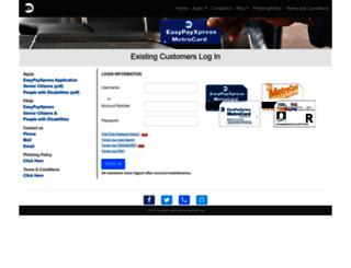 easypaymetrocard.com screenshot