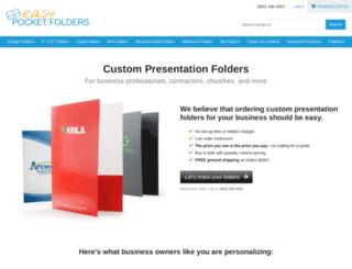 easypocketfolders.com screenshot