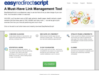 easyredirectscript.com screenshot