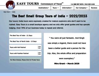 easytoursofindia.com screenshot