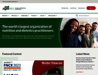 eatrightpro.org screenshot