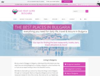 eatstaylovebulgaria.com screenshot