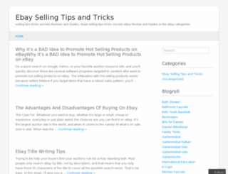 ebaysellingtipstricks.wordpress.com screenshot