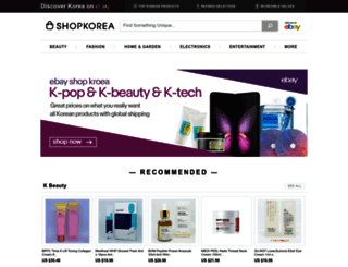 ebayshopkorea.com screenshot
