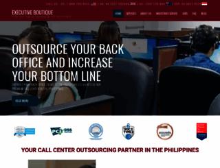 ebcallcenter.com screenshot