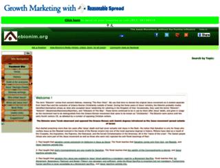 ebionim.org screenshot