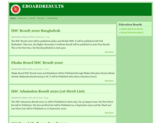 eboardresults.net screenshot