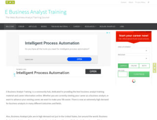 ebusinessanalysttraining.com screenshot