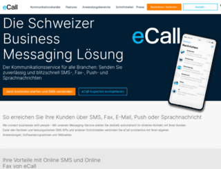 ecall.ch screenshot