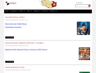 echecs35.fr screenshot