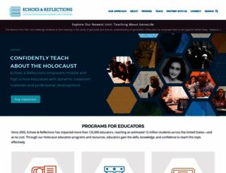 echoesandreflections.org screenshot