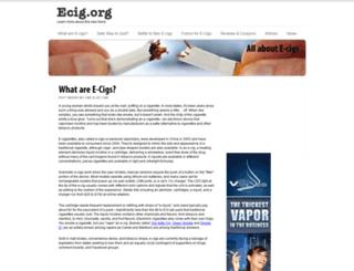 ecig.org screenshot