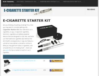 ecigarettestarter.co.uk screenshot
