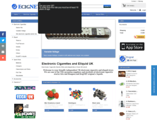 ecignet.co.uk screenshot